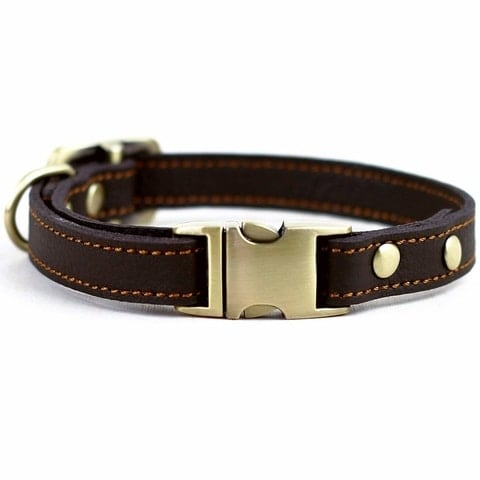 Chede Real Leather Handmade Luxury Dog Collar