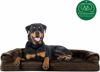 FurHaven Orthopedic Ultra Plush Sofa-Style Couch Pet Bed